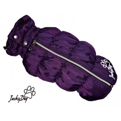 Жилет утепленный с закрытым животом на суку фиолетовый