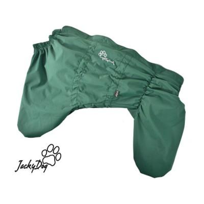 Комбинезон мембранный на флисе на кобеля зеленый