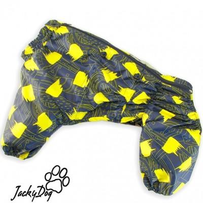 Мембранный дождевик ,,желтые штрихи,, на кобеля