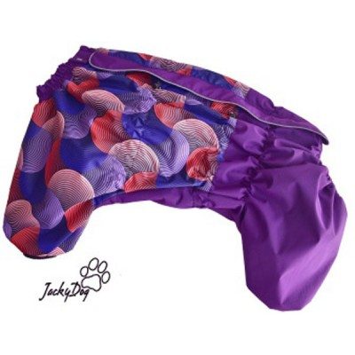 """Комбинезон мембранный  на флисовом подкладе """"фиолетовые круги"""" на суку"""